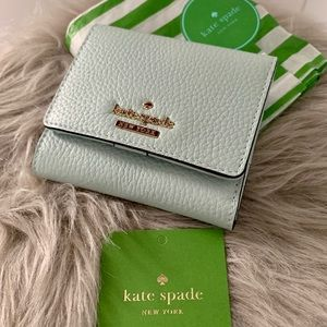 New Kate Spade leather wallet in mint